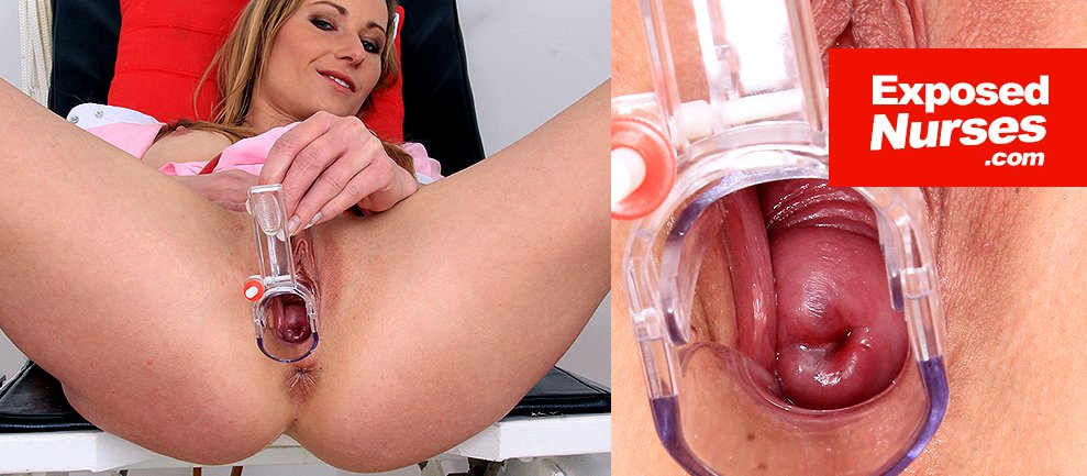 Naughty nurse open pussy speculum pussy close-ups video HD